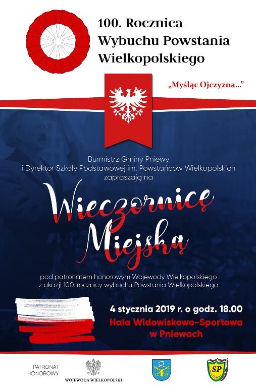 WIECZORNICA MIEJSKA W PNIEWACH pod honorowym patronatem Wojewody Wielkopolskiego